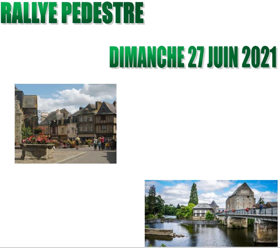Rallye Pédestre Dimanche 27 Juin